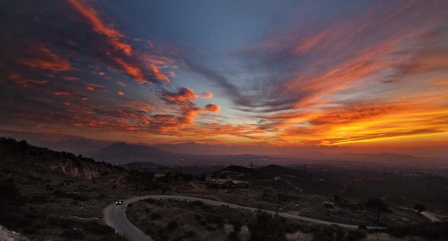 Penteli sunset