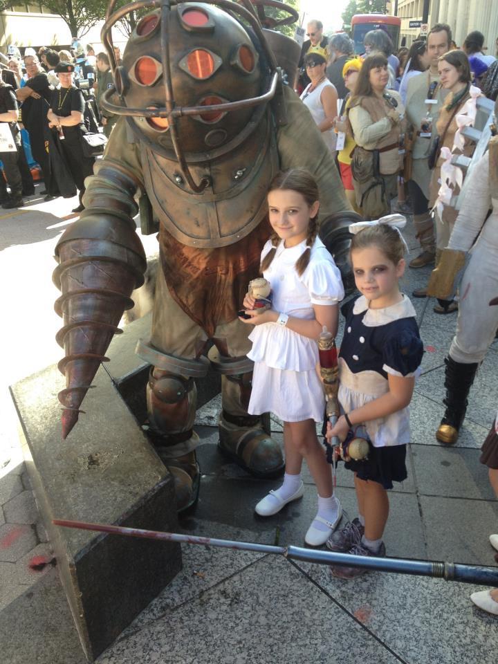 Big Daddy Sisters Bioshock Dragon Con 2012 Parade Emily