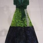 330011 (-2060)MEEMILEID 真丝印花领口系带无袖裙 2 4 6 橙绿色-橙黄色-黄色-绿色-红色    胸88 长127 腰80 (6)