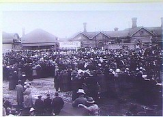 Crowd at Gawler Railway Station, visit of the Prince of Wales, 12 July 1920