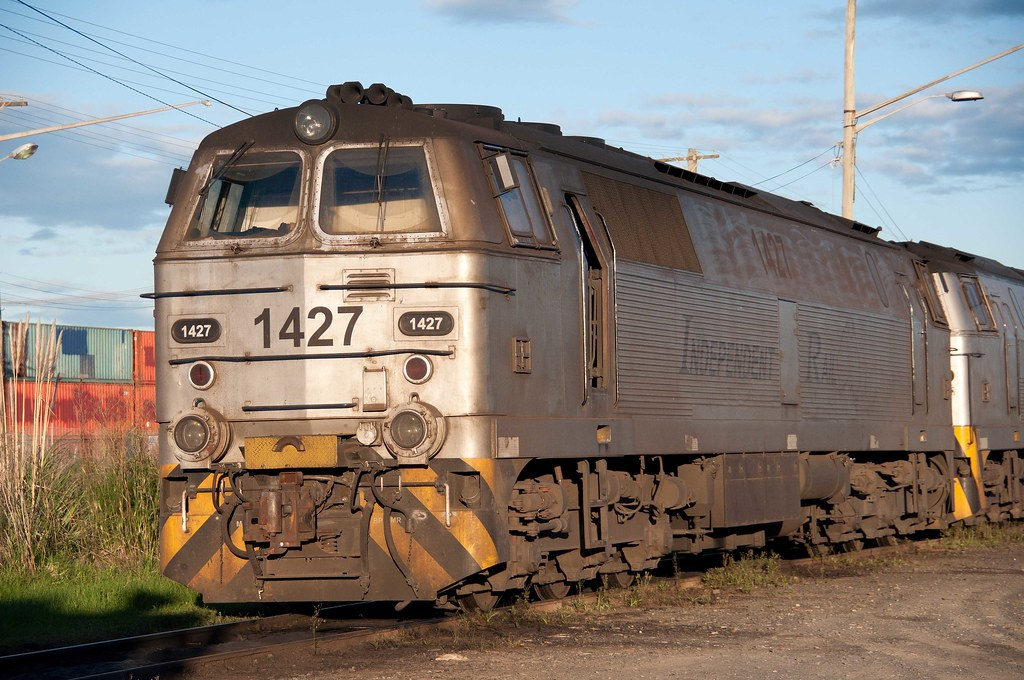 Independent Rail Australia's 1427 basks in the late afternoon sunlight by John Cowper