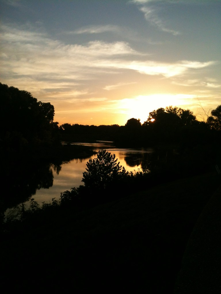Sunset at Fisherman's Park   The Colorado River in Bastrop ...
