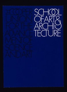 Cover of catalog for the Cooper Union