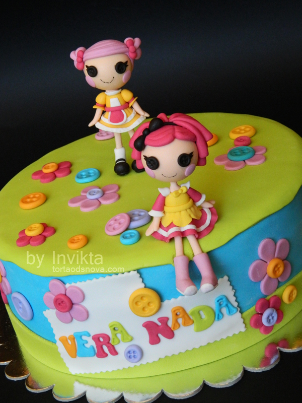 Superb Lalaloopsy Birthday Cake Gum Paste Cake Toppers Flickr Personalised Birthday Cards Rectzonderlifede