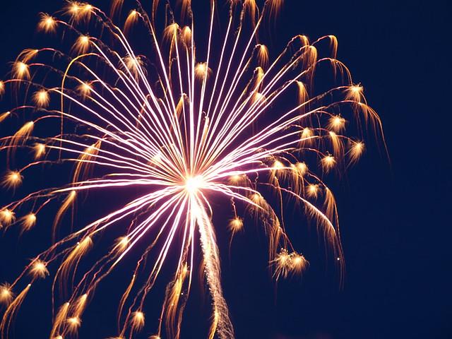 Fireworks at Jumpin' Jacks in Scotia NY