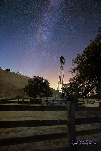 california ranch longexposure light sky windmill night stars nikon glow wind andromeda galaxy brentwood stockton antioch deervalley milkyway darvin atkeson darv liquidmoonlightcom d800e