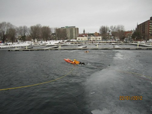 Ice Water Rescue - Pre-Service Firefighter Program at St. Lawrence College