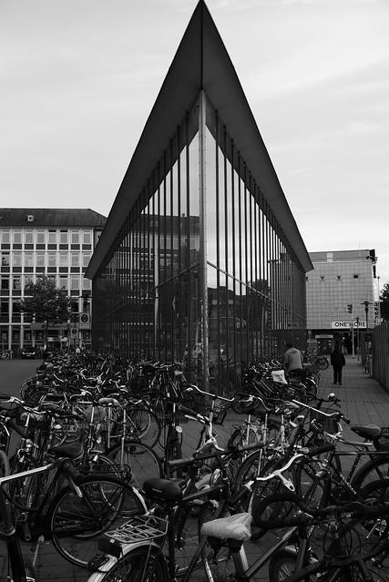 Radstation/ Underground bike parking garage Münster/ Westfalia