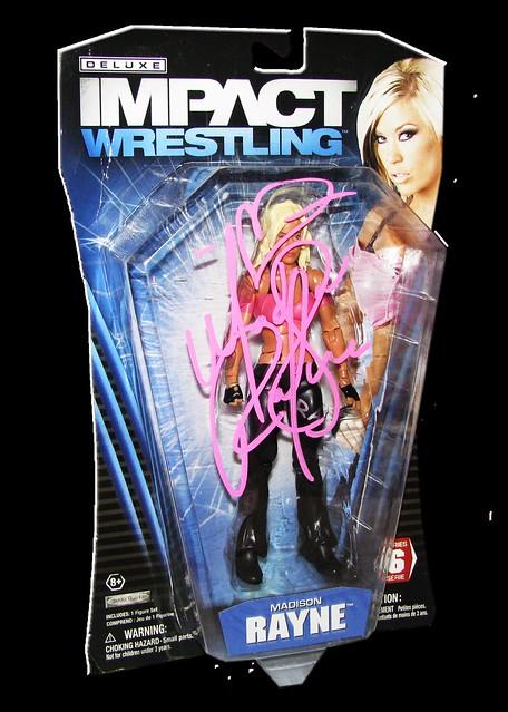 Madison Rayne Autographed JAKKS Pacific TNA DELUXE IMPACT Series 6 Figure