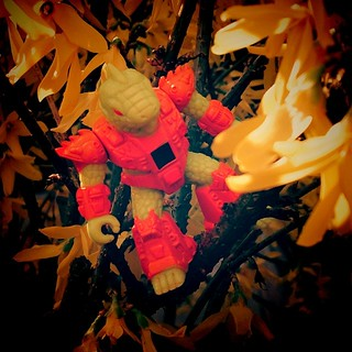 Special #Yellow themed picture with Icky using the first signs of spring to go into stealth mode.  イグアナモンス Icky Iguana #BB29  For #toyartistry_yellow  Shot 2  Wanna know more about this awesome toyline from the late 80's visit the blog; Beastformers.WordP | by Beastformers