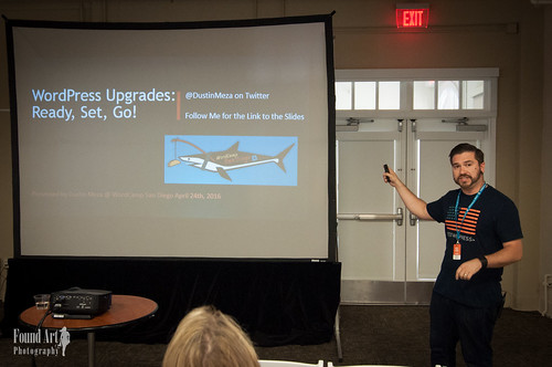 2016 WordCamp San Diego | Dustin Meza, Speaker (Photo by Kari Leigh Marucchi)