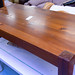 Hardwood stained low rectangular coffee table