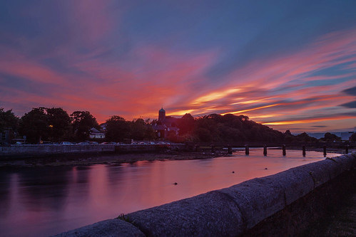 wicklow water wicklowtown ireland eire sky summer sun sunset