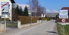 Ortstafel Kapfenberg / St. Lorenzen im Mürztal