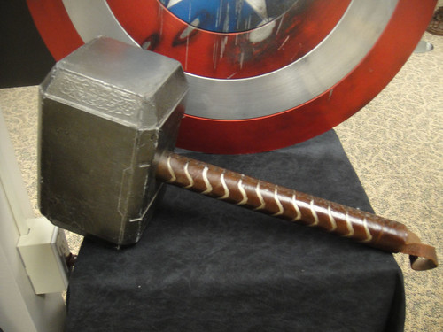 Captain America Prop Auction - Thor's hammer Mjolnir | by Doug Kline