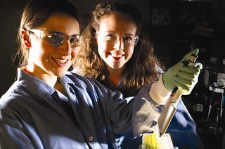 Los Alamos student Calla Glavin (left) and Taraka Dale | by Los Alamos National Laboratory
