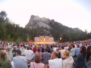 Lighting ceremony at Mount Rushmore | by karma17