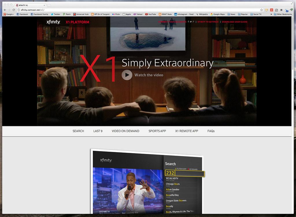 xfinity X1 platform page | Used on Comcast Xfinity X1 Platfo
