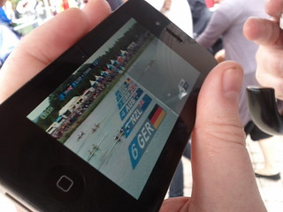 #london2012 watching team GB get gold, as we queue | by gorgeoux