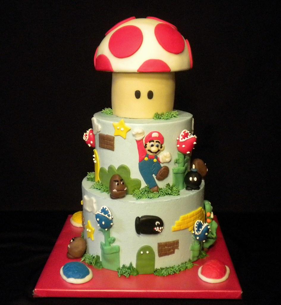 Brilliant Super Mario Birthday Cake The Cake Diva Minneapolis Flickr Funny Birthday Cards Online Elaedamsfinfo