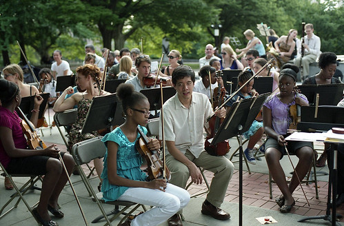 The String Orchestra of Brooklyn, Fort Greene Park, Brooklyn, July 21, 2012 | by triebensee