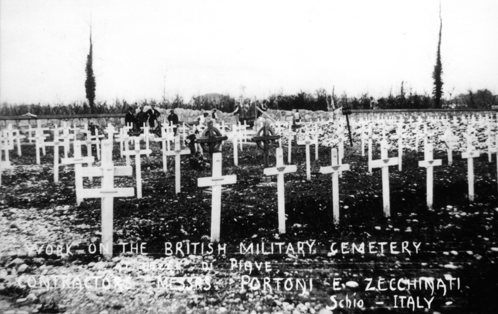 Construction of Tezze British Cemetery