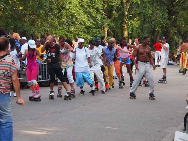 Roller disco in Central Park (New York, USA 2012)