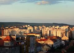 Sunset Over Communist Era Apartment Blocks, Cluj, Romania