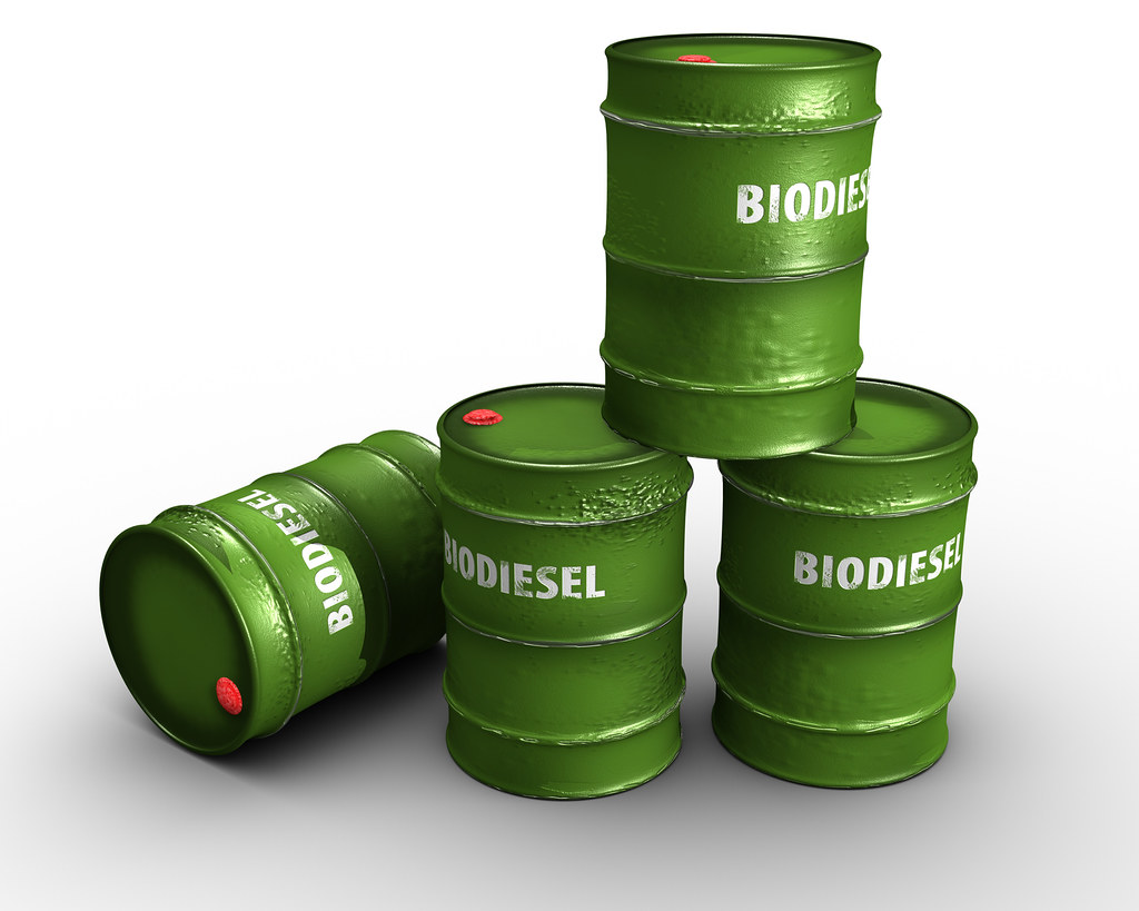 biodiesel in green barrels | Mitra Sahara | Flickr