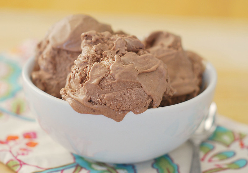 Chocolate Ganache Ice Cream - rich chocolate ice cream made from only a few simple ingredients. You'll never go back to buying chocolate ice cream again!