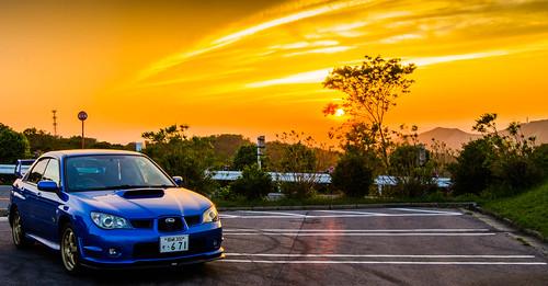 sunset cars car japan subaru wrx okazaki kohda