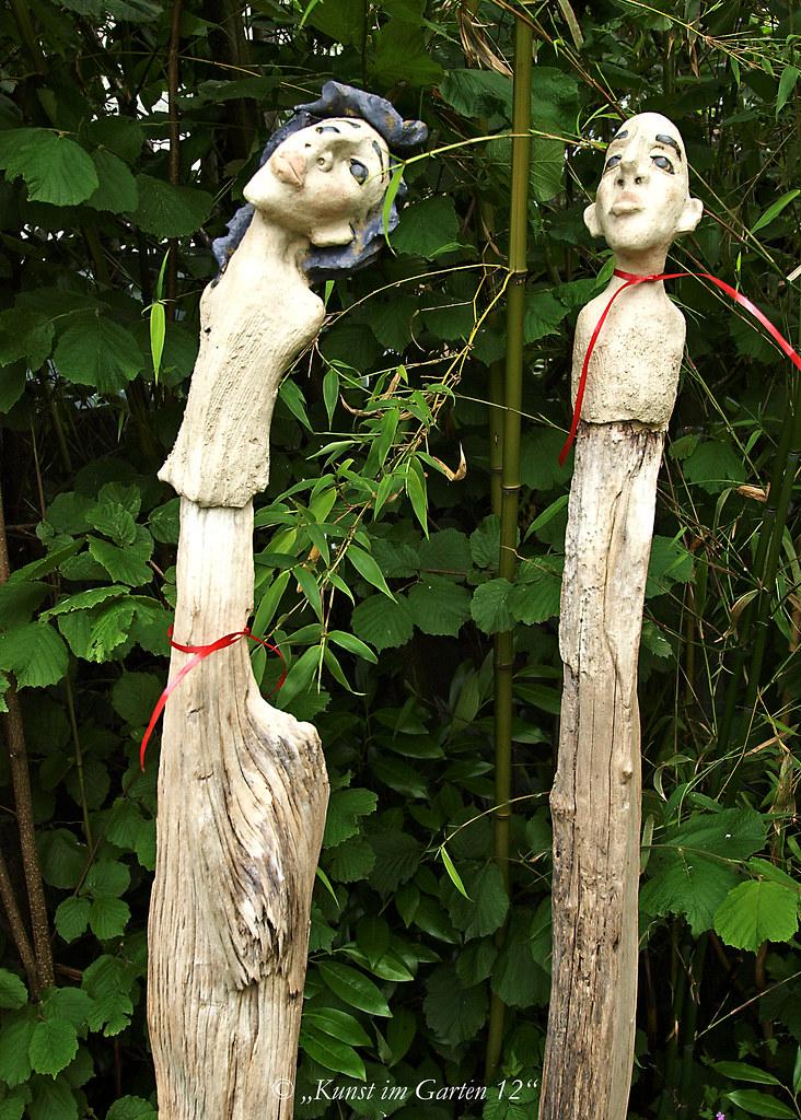 das Paar - Keramik und Schwemmholz, Garten Fiechter, ©Kera ...