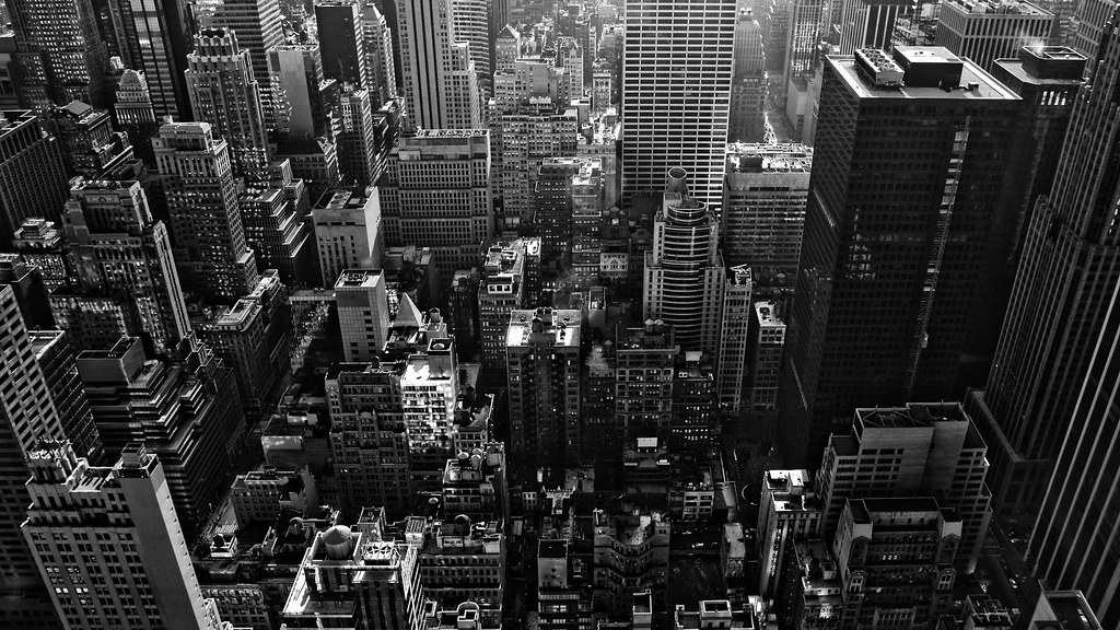 New York Skyline Black And White Wallpaper 1920x1080 Flickr