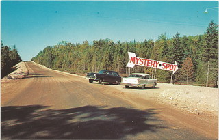 UP St Ignace MI 1950s ROADSIDE The World Famous MYSTERY SPOT Tourist Attraction 5 Miles from the Mackinaw Bridge Photographer Unk | by UpNorth Memories - Donald (Don) Harrison