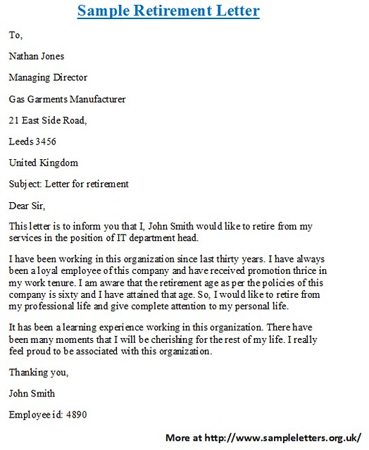 Retirement Letter Samples For Someone Retiring from live.staticflickr.com