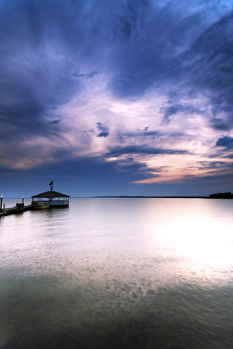 light sunset landscape pier intense glow blues maryland gazebo oceancity cloudscape waterscape fagersisland canon5dmkii singhrayrgnd ef1740f40lusm