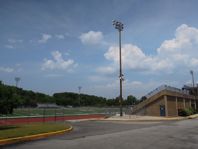 Home of the Patriots Football Field Stadium at Parkway South High School - Manchester, MO_DSCN7469