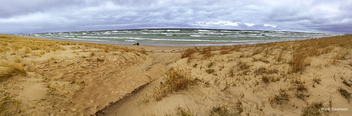 panorama lake storm color beach apple grass sand waves wind michigan pano great lakes iphone 5s