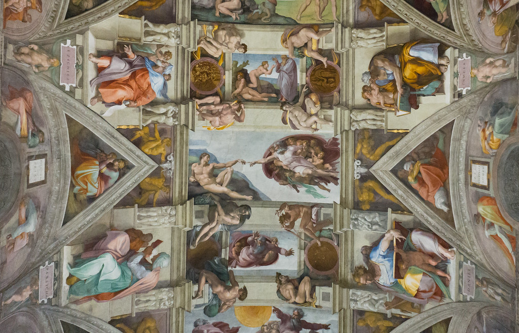 Sistine Chapel Ceiling Michelangelo Vatican For More Det
