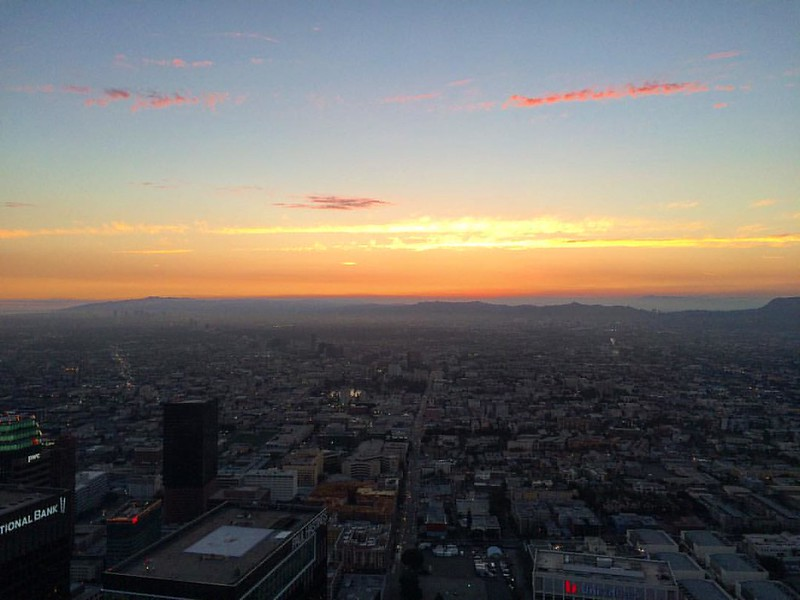 #western #sky from the U.S. Bank Tower observation deck #sunset #latergram 2016/06/18 #photo3662016 #mahiwaga3662016 200/366 39+309/366
