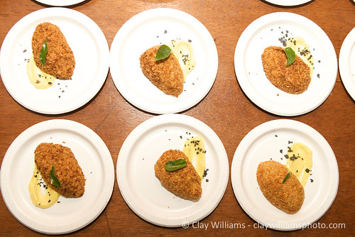 Curry Spiced Potato Scotch Egg with Cardamom Aioli | by Emily Cavalier