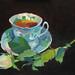 The tea rose, Oil on board 33x20cm