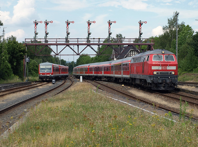 Synchronous arrival at Bad Harzburg, August 2, 2012
