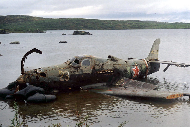 P-39Q as it was recovered from a Russian lake