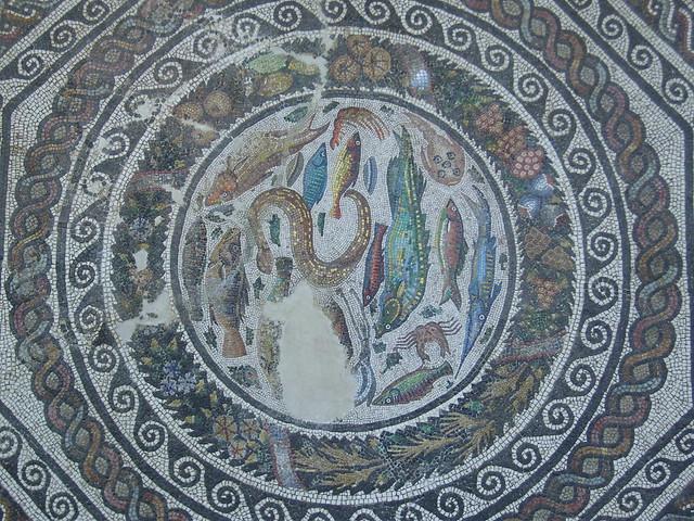 Mosaico romano con las cuatro Estaciones