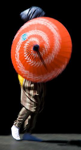 Japanese umbrella dance