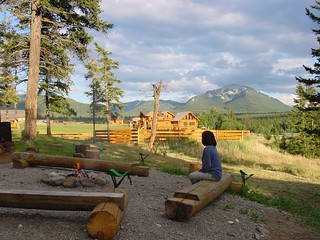 Relax by the campfire at Echo Valley Ranch