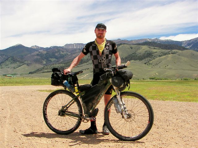 Long Ranger Pioneer Mountain in background - Tour Divide
