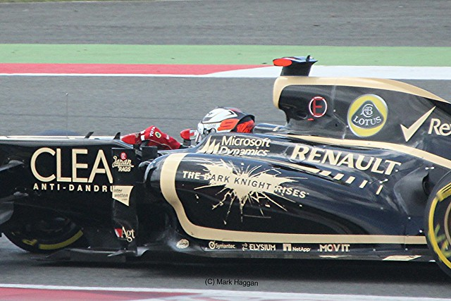 Kimi Raikkonen in his Lotus during the 2012 British Grand Prix at Silverstone