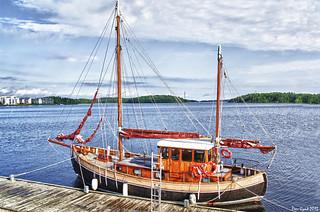 Sailing Vessel s/y Sälen. 1920.